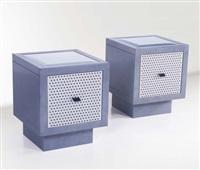 coppia di tavolini della serie container by matteo thun