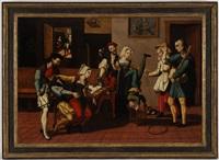 intérieur d'auberge avec acrobates by jan van (brunswich monogrammist) amstel