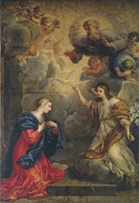 the annunciation by ludovico mazzanti