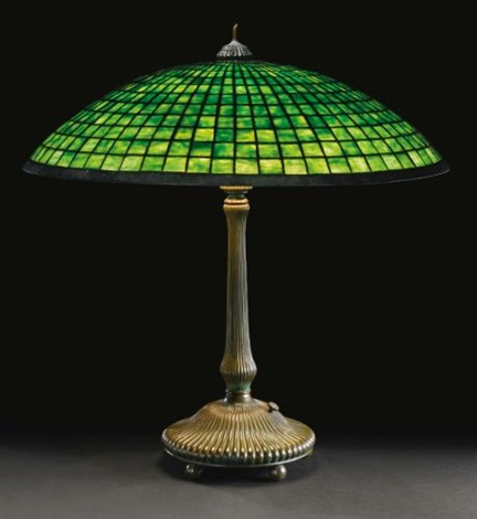parasol table lamp by tiffany studios