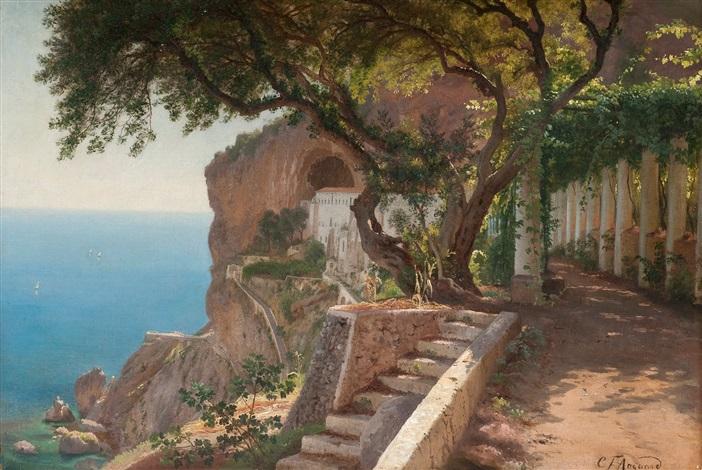 från kusten vid amalfi by carl frederik peder aagaard