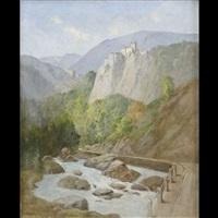 veduta di castel cornedo by eugen reichenbach