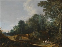 landscape with the toilet of venus by françois van knibbergen