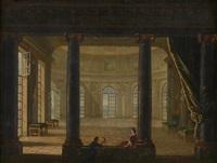 deux personnages dans un intérieur de palais by philippe meusnier