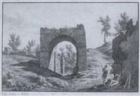 rastende soldaten vor der porta nola in den ausgrabungen von pompeii by wilhelm jakob huber