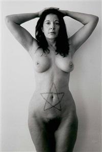 nude with a cut start by marina abramović