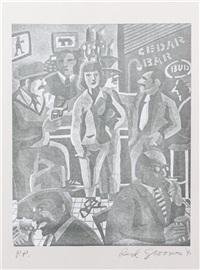 elaine de kooning at the cedar bar by red grooms