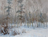 evening snowfall by orestes (rick) nicholas de grandmaison