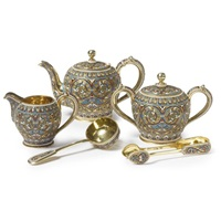 a teaset (set of 5) by lyubavin (co.)