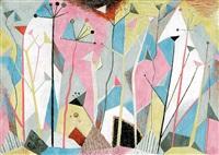abstrakte komposition (bäume und pflanzen) by paul hartmann