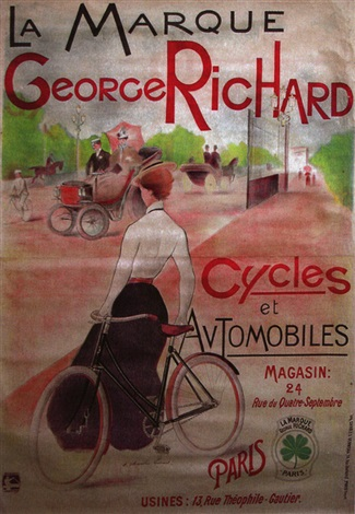 la marque georges richard cycles amp automobiles poster by charles lucas