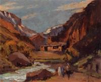vallée de l'ourika, maroc by henri léon voisin