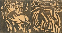 le paysan & la femme (set of 2) by gustave de smet