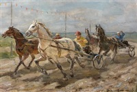 course de trot attelé by konstantin alexandrovich danilov