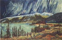 kluane lake / yukon northern lights by laurel j. v. cormack