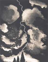 study for lightning by david hockney