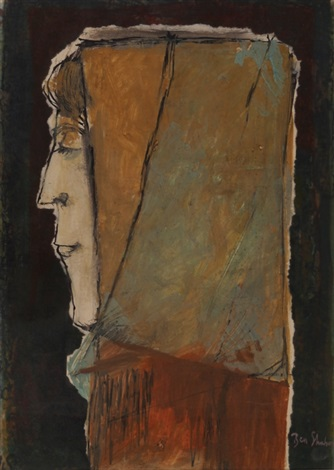 woman in profile by ben shahn