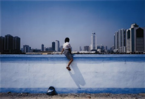 sitting on the wall guangzhou 1 by weng fen weng peijun