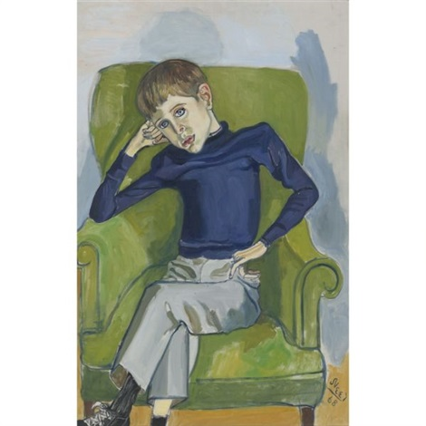 portrait of david brody by alice neel