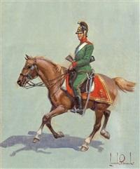 österreichischer dragoner zu pferd by leszek piaseck