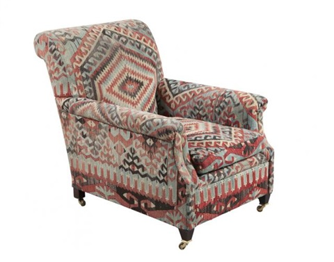 George Smith Kilim Upholstered Club Chair By George Smith
