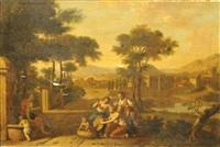 erichtonius découvert par les filles de cécrops by gerard hoet the elder