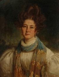portrait d'emma hostein by françois gabriel guillaume lépaulle
