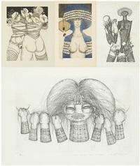 femmes (4 works) by jef van tuerenhout