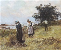 la fenaison en bord de mer by eugène labitte