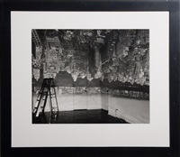 camera obscura image of manhattan view looking west, in empty room by abelardo morell