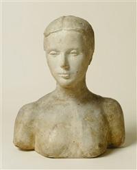 buste de jeune femme by charles leplae