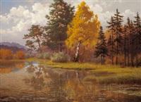 waldweiher bei bernried by hans heinen