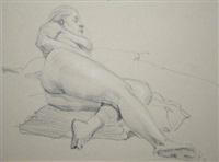reclining nude by niccolo d'ardia caracciolo