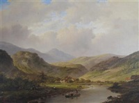 landscape with mountain and river by anglo-american school (19)