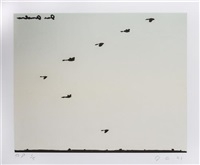 untitled (flying geese) (three works) by joe andoe