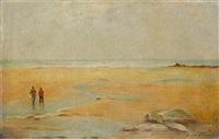 fishermen on a beach by henrique goldschmidt