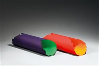 colour circle (2 works) by dan flavin