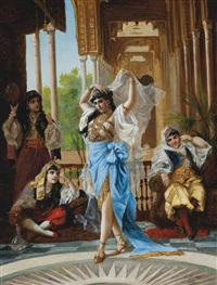 the harem dancer by f. santos