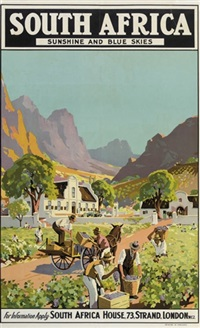 south africa, sunshine and blue skies (poster) by charles e. peers