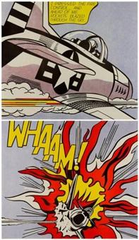 whaam! 1963 left-hand panel & right-hand panel deux by roy lichtenstein