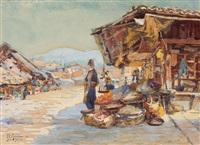 auf dem markt in sarajevo by franz carl renner