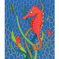 seahorses by yayoi kusama