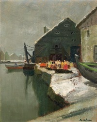 port de haarlem by paul scortesco