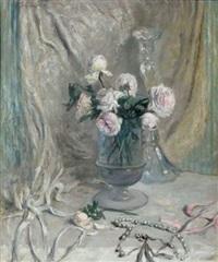 roses dans un vase by charles senard