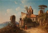 kloster vid terracina (monastery at terracina) by joseph magnus stack