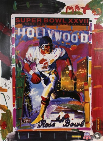 hollywood rose bowl superbowl xxvii by peter max
