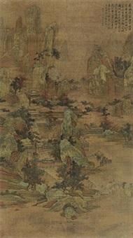 金碧山水 by chen zhuo