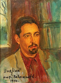 portrait of professor balamouth by david davidovich burliuk