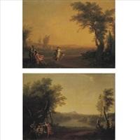 italian landscapes (pair) by carlo labruzzi