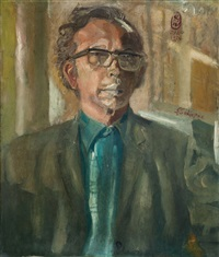 self-portrait by s. sudjojono